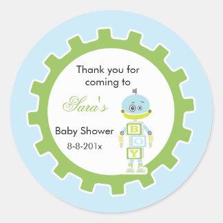 Robot Baby Shower |  Favor Sticker