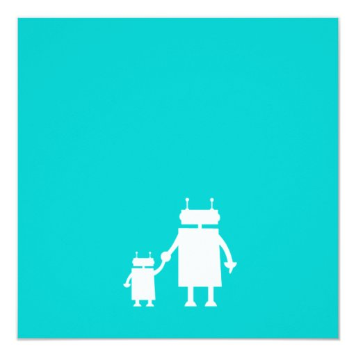 robot baby shower invitation zazzle