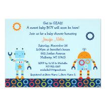 Robot Baby Shower Invitation Baby Bots