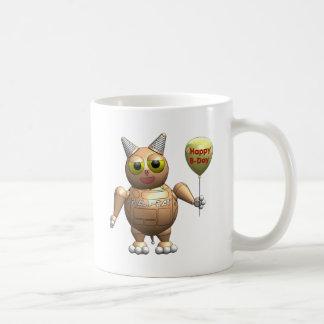 Robot Ball Cat happy birthday Coffee Mug