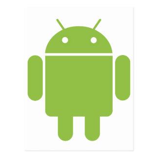 Robot básico del OS del androide Postales