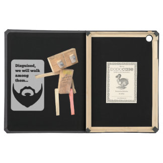 Robot beard disguise plan iPad air cover