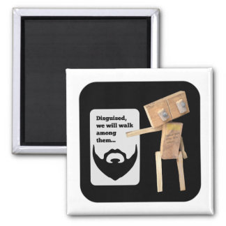 Robot beard disguise plan magnet