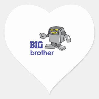 ROBOT BIG BROTHER HEART STICKER