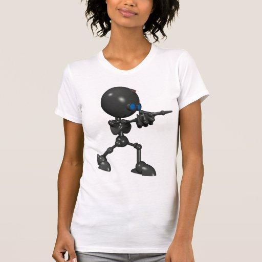 Robot Bionic del muchacho 3D - arma del dedo - Camisetas