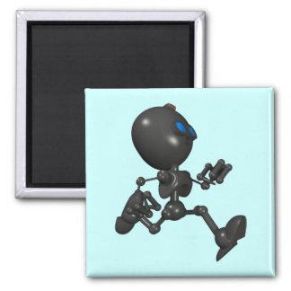 Robot Bionic del muchacho 3D - corriendo - Imán Cuadrado