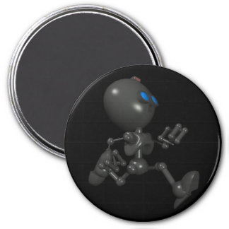 Robot Bionic del muchacho 3D - corriendo - Imán Redondo 7 Cm