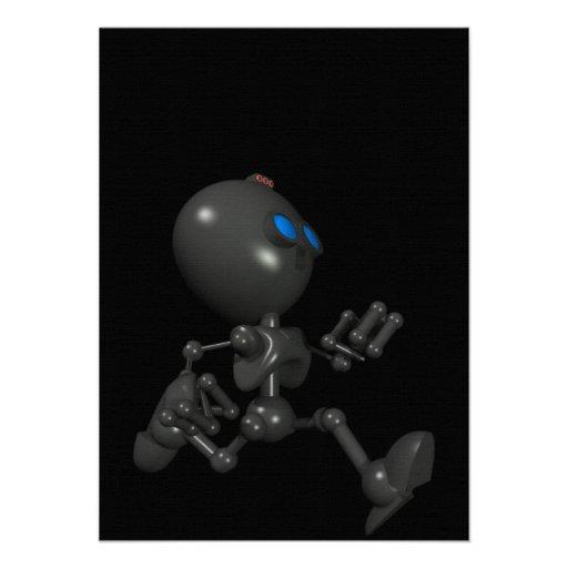 Robot Bionic del muchacho 3D - corriendo - origina Invitación
