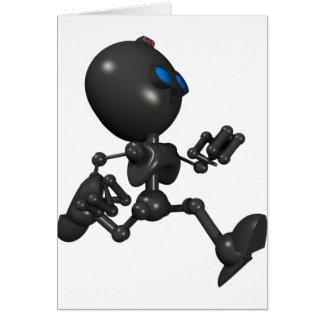 Robot Bionic del muchacho 3D - corriendo - origina Tarjeton