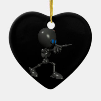 Robot Bionic del muchacho 3D - dedo dispara contra Adorno Navideño De Cerámica En Forma De Corazón