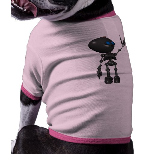 Robot Bionic del muchacho 3D - dedo dispara contra Camiseta Con Mangas Para Perro
