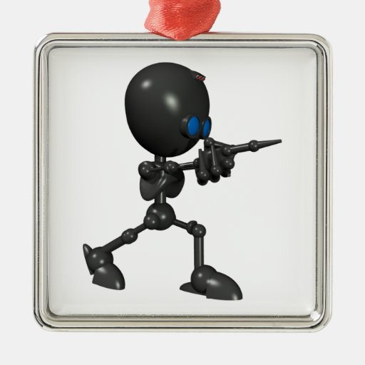Robot Bionic del muchacho 3D - dedo dispara contra Adorno De Navidad