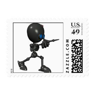 Robot Bionic del muchacho 3D - dedo dispara contra Estampillas