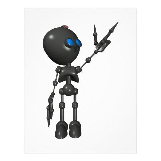 "Robot Bionic del muchacho 3D - dedo dispara contra Folleto 8.5"" X 11"""