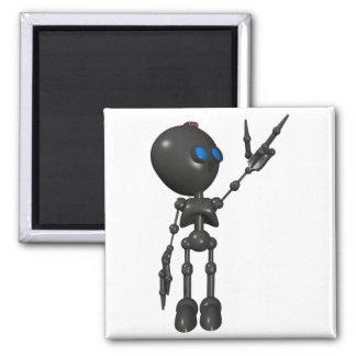 Robot Bionic del muchacho 3D - dedo dispara contra Imán Cuadrado