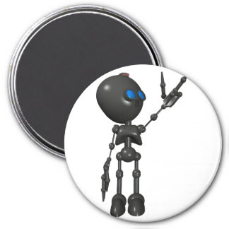 Robot Bionic del muchacho 3D - dedo dispara contra Imán Redondo 7 Cm