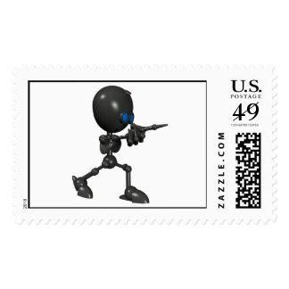 Robot Bionic del muchacho 3D - dedo dispara contra Franqueo
