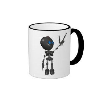 Robot Bionic del muchacho 3D - dedo dispara contra Taza De Dos Colores