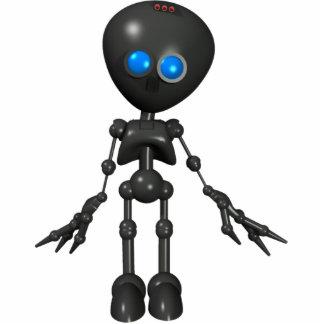 Robot Bionic del muchacho 3D - mirando adelante Fotoescultura Vertical