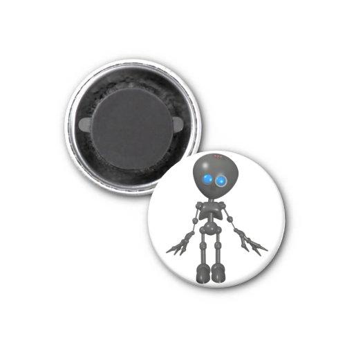 Robot Bionic del muchacho 3D - mirando adelante Imanes Para Frigoríficos