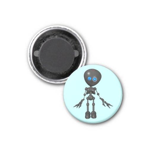 Robot Bionic del muchacho 3D - mirando adelante Imán Redondo 3 Cm