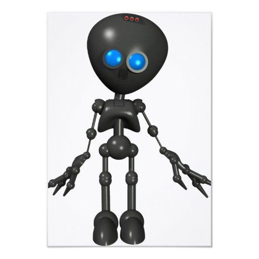 """Robot Bionic del muchacho 3D - mirando adelante Invitación 3.5"""" X 5"""""""
