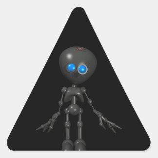 Robot Bionic del muchacho 3D - mirando adelante Pegatinas Triangulo