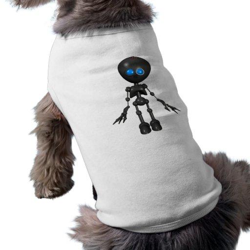 Robot Bionic del muchacho 3D - mirando adelante Playera Sin Mangas Para Perro