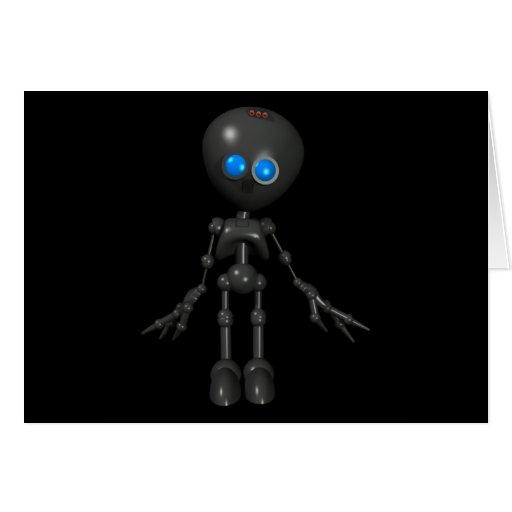 Robot Bionic del muchacho 3D - mirando adelante Tarjeta