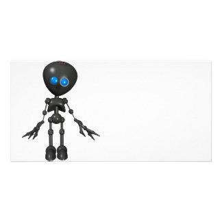 Robot Bionic del muchacho 3D - mirando adelante Tarjeta Fotográfica Personalizada