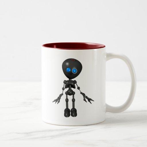 Robot Bionic del muchacho 3D - mirando adelante Tazas