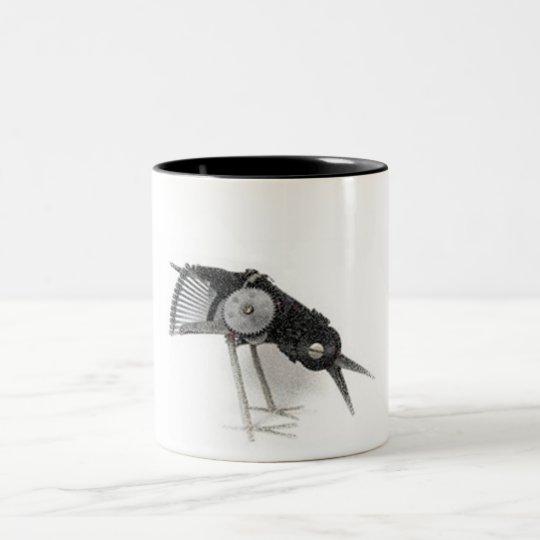 Robot Bird Two-Tone Coffee Mug