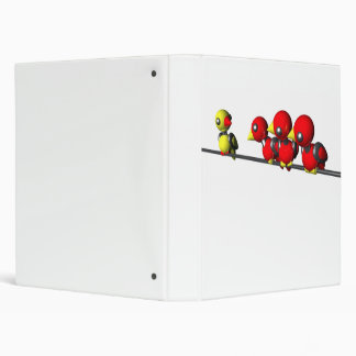 ROBOT BIRDS ON A WIRE 3 RING BINDER