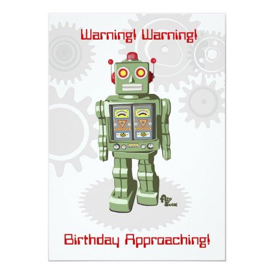 Robot Birthday Invitation