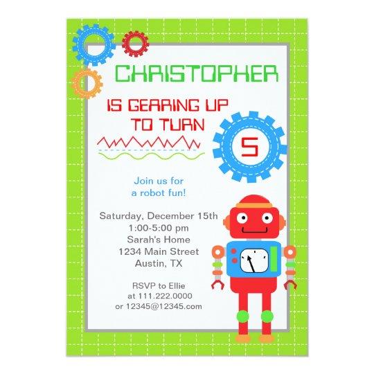 Robot birthday invitations zazzle robot birthday invitations filmwisefo