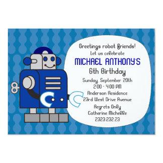 Robot Birthday Party for Boys Invitation