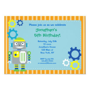Girl robot party invitations announcements zazzle robot birthday party invitations filmwisefo Gallery