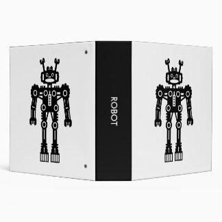 Robot - Black and White (2.0in) 3 Ring Binder