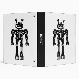 Robot - Black and White 3 Ring Binder