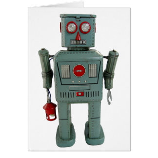 Robot Blank Greeting Card
