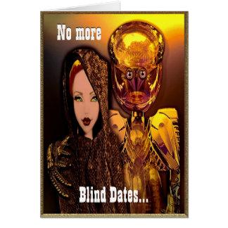 Robot Blind Date Customizable Card