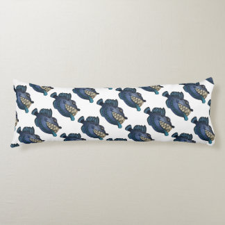"""Robot Blue"" Fish with Attitude Body Pillow"