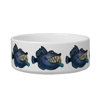 """Robot Blue"" Fish with Attitude Bowl"