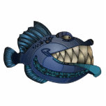 "&quot;Robot Blue&quot; Fish with Attitude Cutout<br><div class=""desc"">Mike&#39;s lifelong fascination with animals is reflected in his whimsical creatures that he&#39;s been making since the tender age of 10. Now in his 40&#39;s, Mike continues to create a multitude of unique artwork. Through the years the menagerie has evolved and expanded to include; Tribal masks, large scale fiberglass sculptures,...</div>"