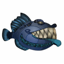 """Robot Blue"" Fish with Attitude Cutout"