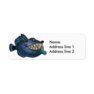 """""""Robot Blue"""" Fish with Attitude Label"""