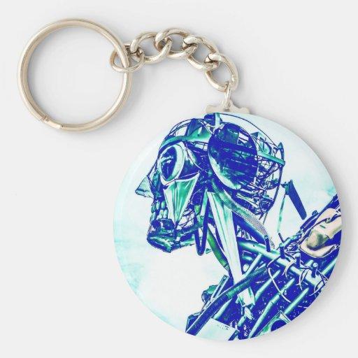 Robot Blues Keychains