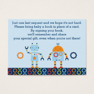 Robot Book Request Cards / Baby Bots