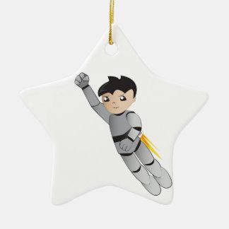 Robot boy ceramic ornament