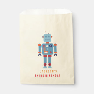 Robot Boy Party Favor paper bag